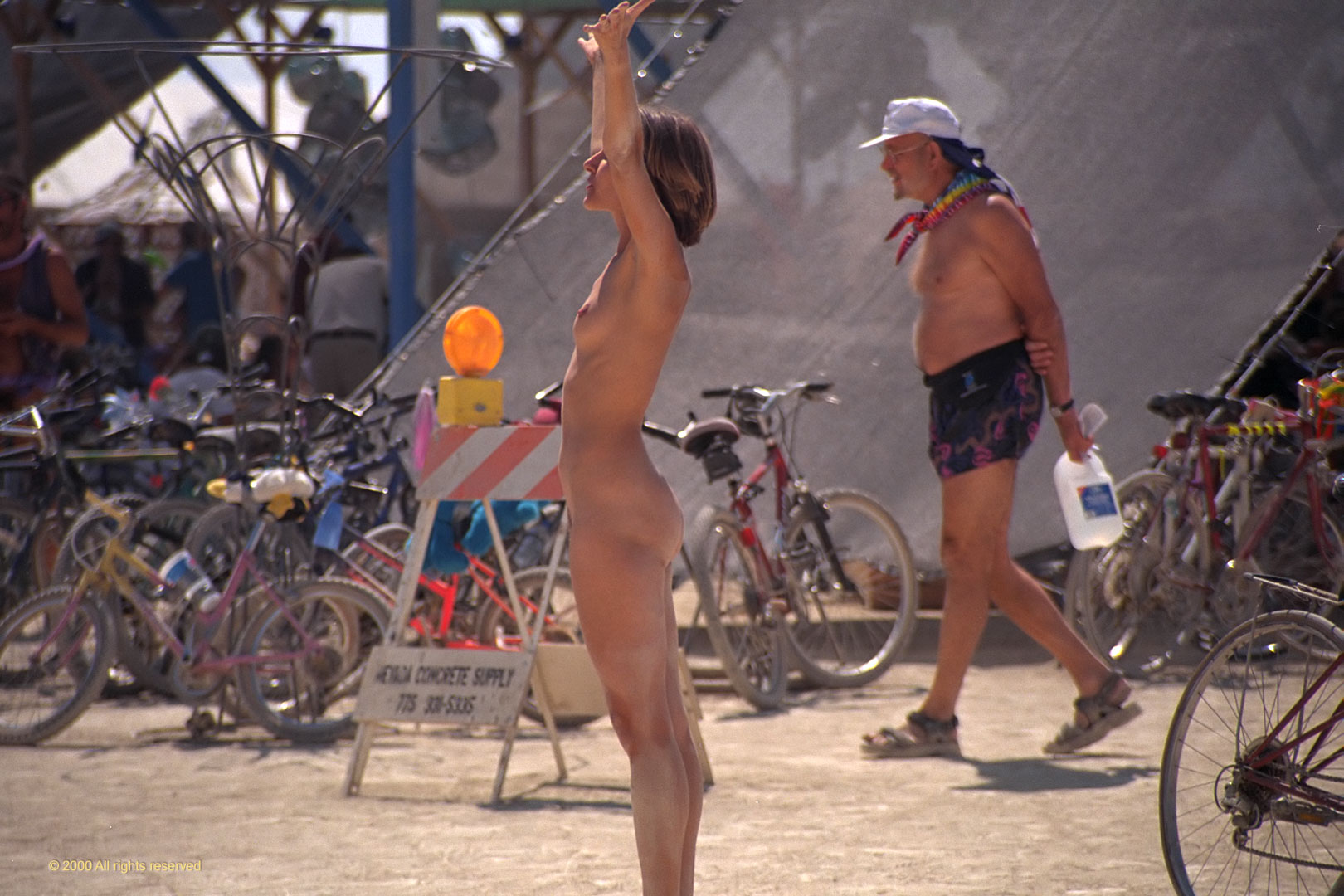 nude burning man movie